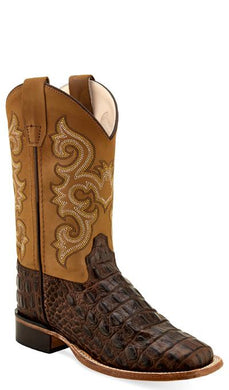 Brown Faux Horn Back Gator Print/Tan Canyon
