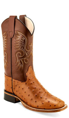 Cognac Faux Ostrich Print /Light Burnish Pecan