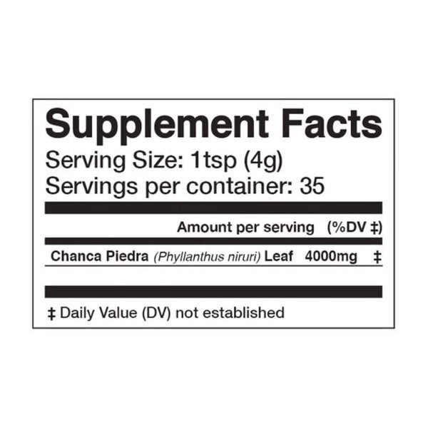 "<img src=""chanca piedra superfood powder supplement facts.jpg"" alt=""chanca piedra superfood powder supplement facts"">"