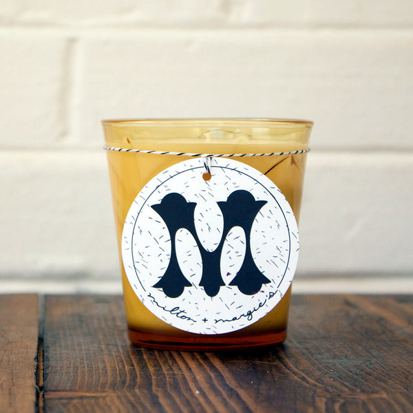 Cinnamon Clove Soy Candle in Vintage Amber Glass
