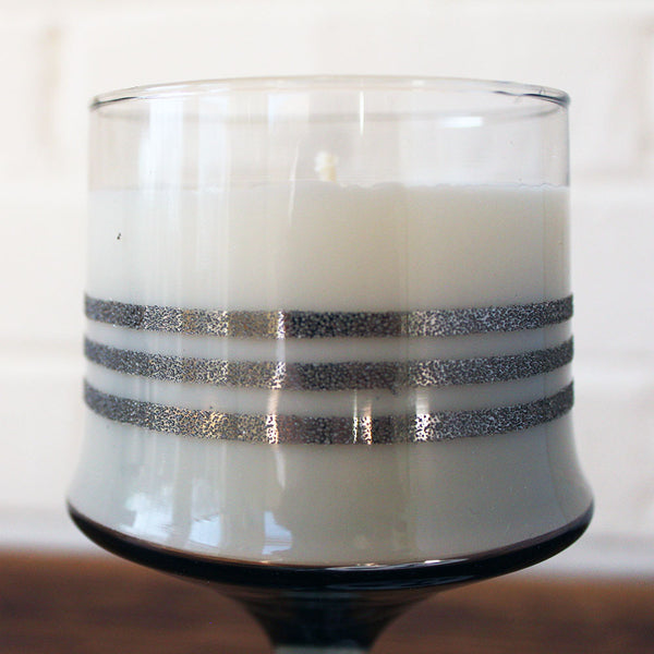 Gin and Tonic Soy Candle in a Vintage Cocktail Glass