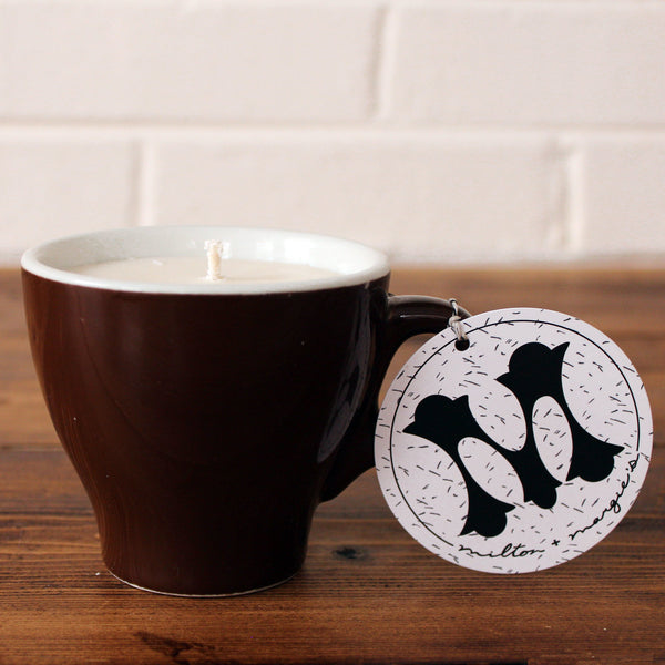 Soy Candle in Brown Vintage Mug (Pick The Scent)
