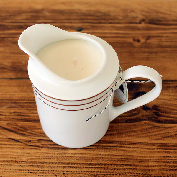White Ginger with Amber Soy Candle in a Vintage Creamer