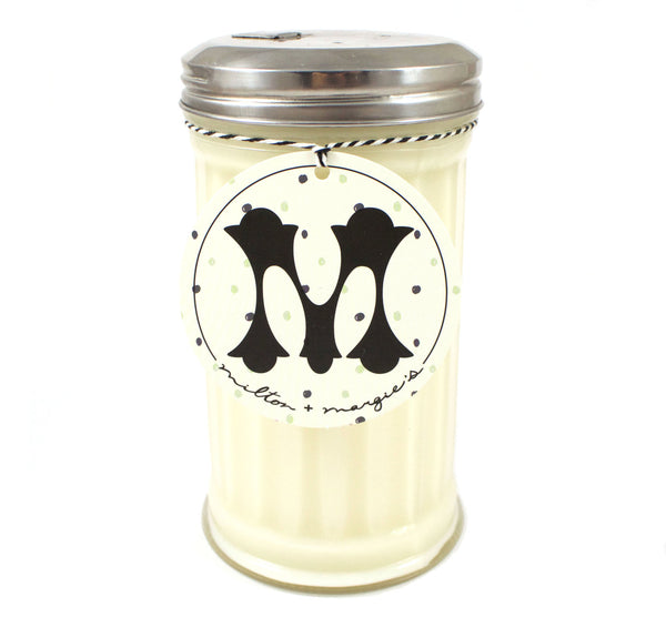 Buttercream Soy Candle in a Reclaimed Sugar Shaker