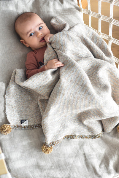 Baby blanket Sand Mouse