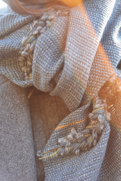 Scarf with braid detail Old Pine
