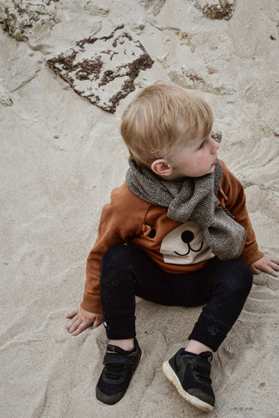 Kids scarf Brown