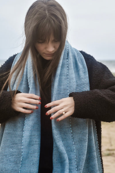 Plant-based scarf Seaside