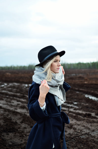 Wool scarf Crème Casual