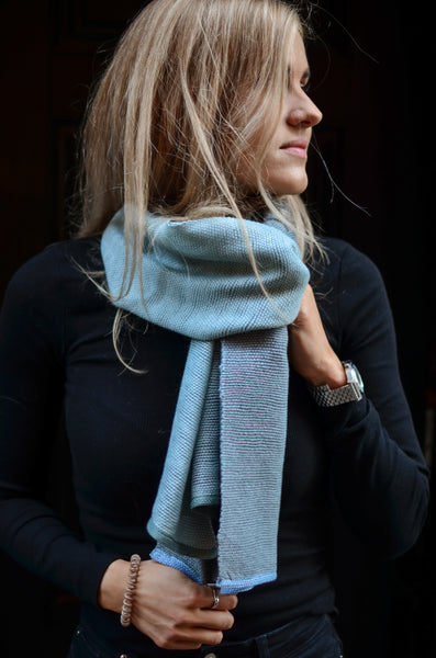 Wool scarf Ocean Sheet