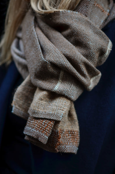 Wool scarf Nature Stripes