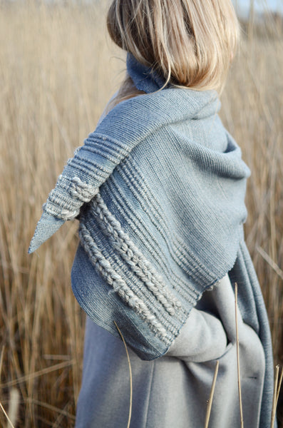 Wool scarf Cloudline