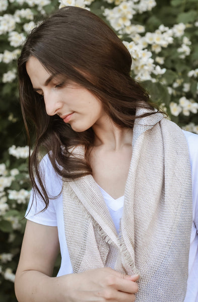 Linen scarf PEARL
