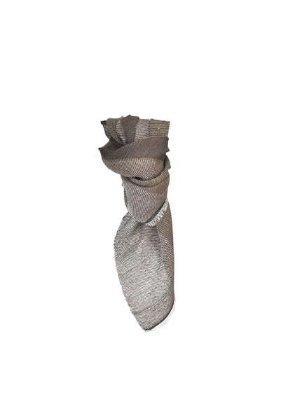 Linen scarf Brown Marble
