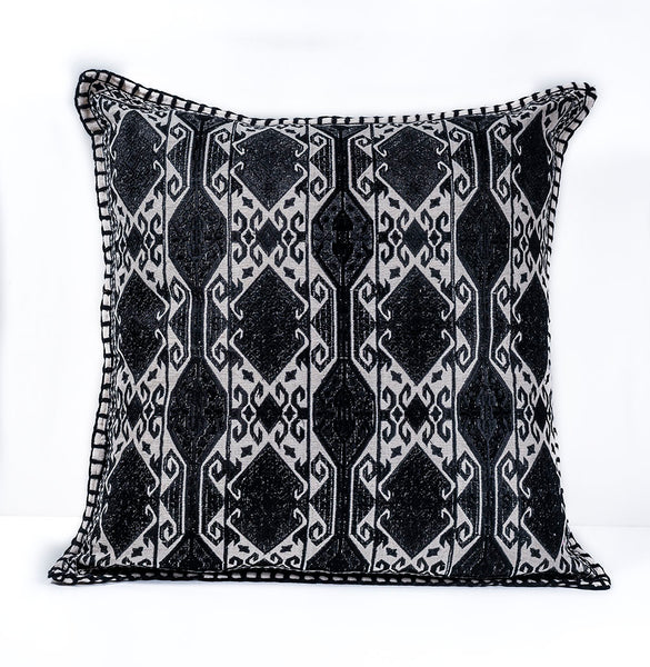 After Dark Daring Lumbar Embroidered Pillow