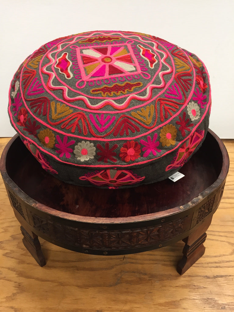 Caitlyn embroidered ottoman