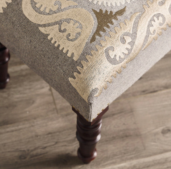 Suzani embroidered bench