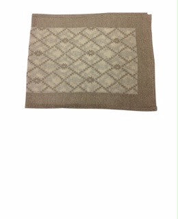 "Hooper 72"" Natural Woven Ivory - Beige Jacquard Table Runner"