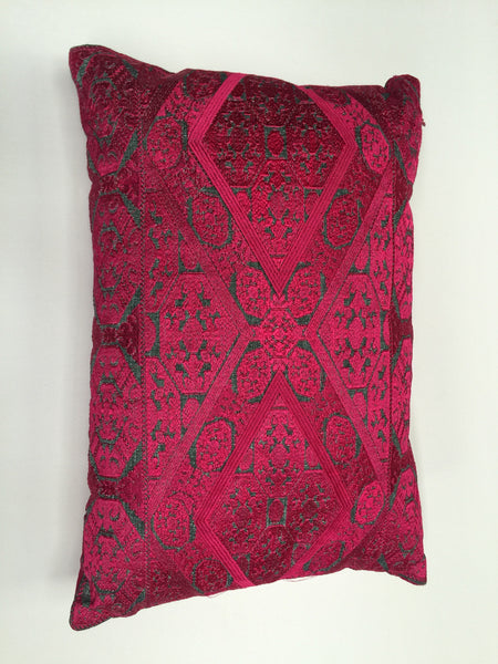 Amelia Silk Embroidered Pillow