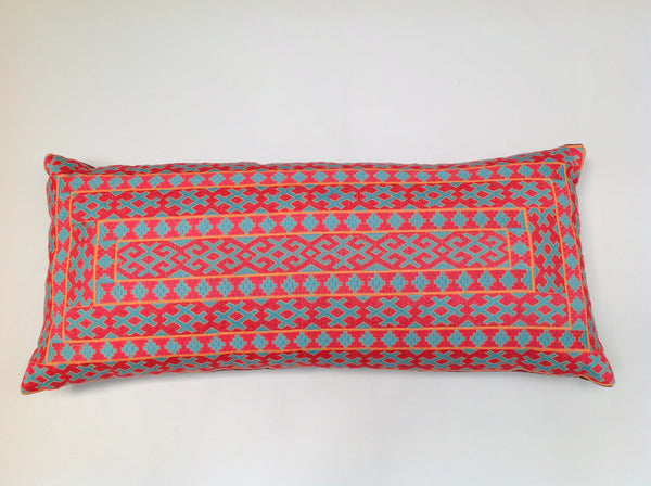 Pulitzer Neon Silk Embroidered Pillow