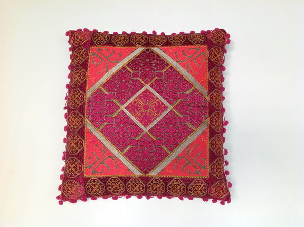 Pulitzer Silk Embroidered Pillow