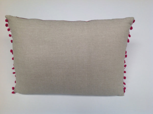 Pulitzer Linen with Silk Embroidery Pillow