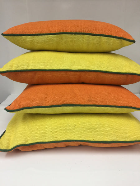 Merriment Colorblock Cotton Pillow