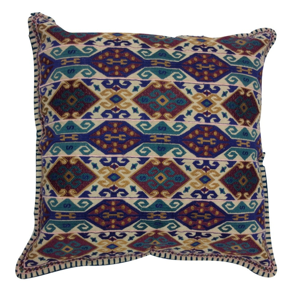 Charlie Daring Embroidered Pillow