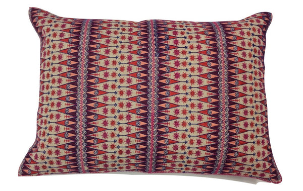 Audrey Fit Lumbar Embroidered Pillow