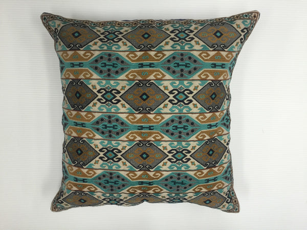 Finn Daring Embroidered Pillow