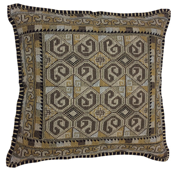 Mirror Escape Embroidered Pillow
