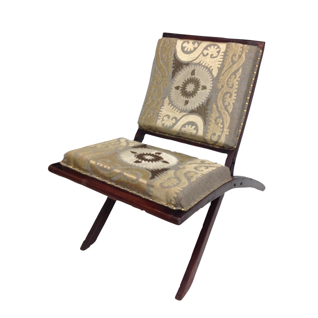Suzani embroidered chair