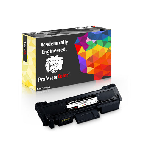 Professor Color Compatible Toner Cartridge Replacement for Xerox Phaser 3260 3052 WorkCentre 3215 3225 - High Yield 3,000 Pages 106R02777 - Professor Color