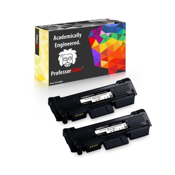 Professor Color Compatible Toner Cartridge Replacement for Xerox 106R02777 Phaser 3260 3260DI 3260DNI 3052 WorkCentre 3215 3215NI 3225 3225DNI - High Yield 3,000 Pages - 2 Pack, ,