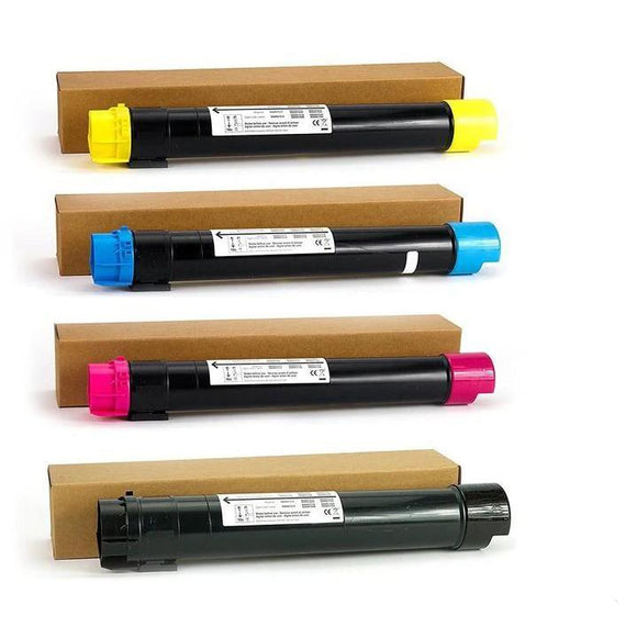 Professor Color Re-Coded Toner Cartridge Replacement for Xerox WorkCentre 7525/7535/7545/7556 | 006R01513 006R01514 006R01515 006R01516 - Toner Set - Professor Color