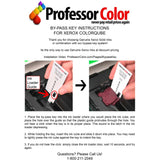 Xerox ColorQube 8570 or 8580 Inks Replaces 108R00926 108R00927 108R00928 108R00929 (4 Repackaged Xerox Inks) Includes Professor Color Bypass Key, Xerox ColorQube 8570/8580,