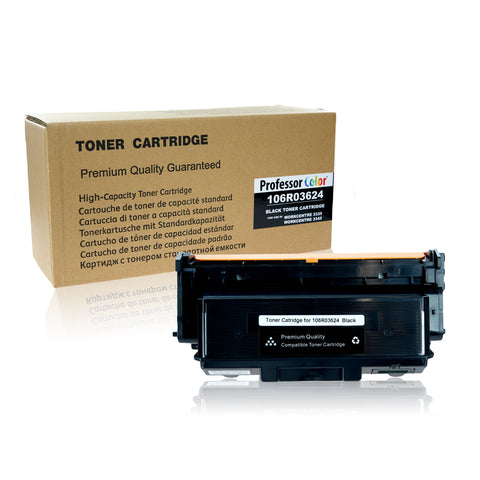 Professor Color Compatible Toner Cartridge Replacement for Xerox WorkCentre 3335 3345 106R03624 - Black, ,