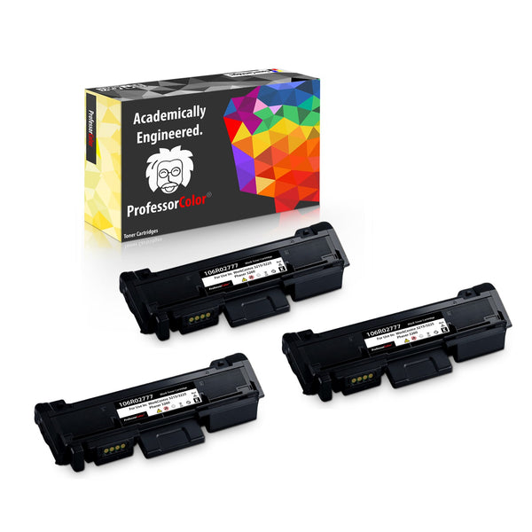 Professor Color Compatible Toner Cartridge Replacement for Xerox 106R02777 Phaser 3260 3260DI 3260DNI 3052 WorkCentre 3215 3215NI 3225 3225DNI - High Yield 3,000 Pages - 3 Pack, ,