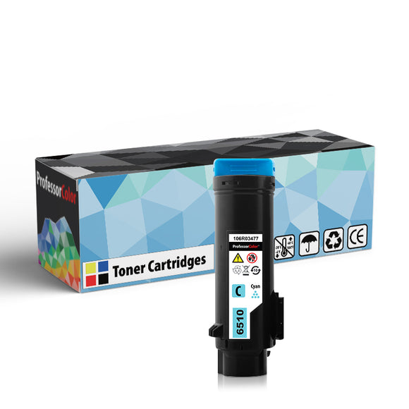 Professor Color High Capacity Compatible Toner Cartridge Replacement for Xerox Phaser 6510 106R03477 - Cyan, ,