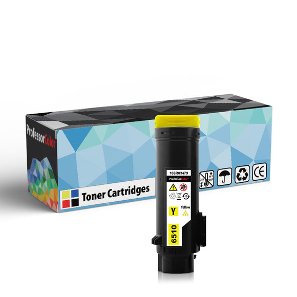Professor Color High Capacity Compatible Toner Cartridge Replacement for Xerox Phaser 6510 106R03479 - Yellow - Professor Color