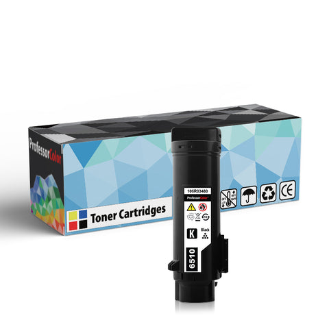 Professor Color High Capacity Compatible Toner Cartridge Replacement for Xerox Phaser 6510 106R03480 - Black - Professor Color
