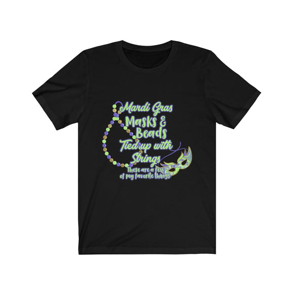 Mardi Gras Favorite Things Unisex Jersey Short Sleeve Tee