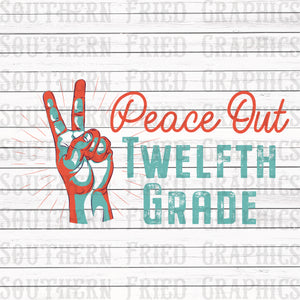 Peace Out Twelfth Grade Graphic