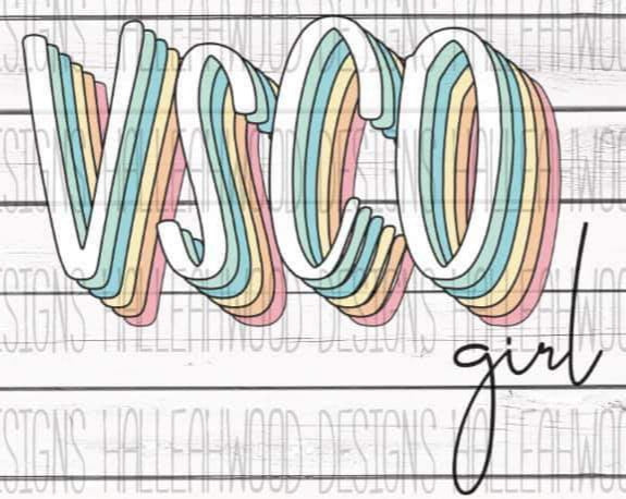 VSCO Girl Screen Print Transfer RTS