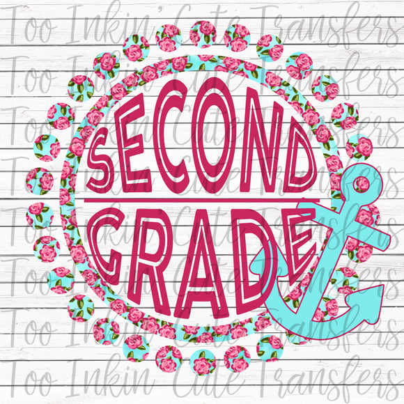 Second Grade Floral Anchor Transfer