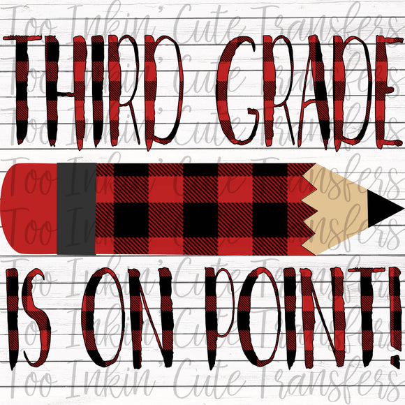 Plaid Third Grade On Point Transfer