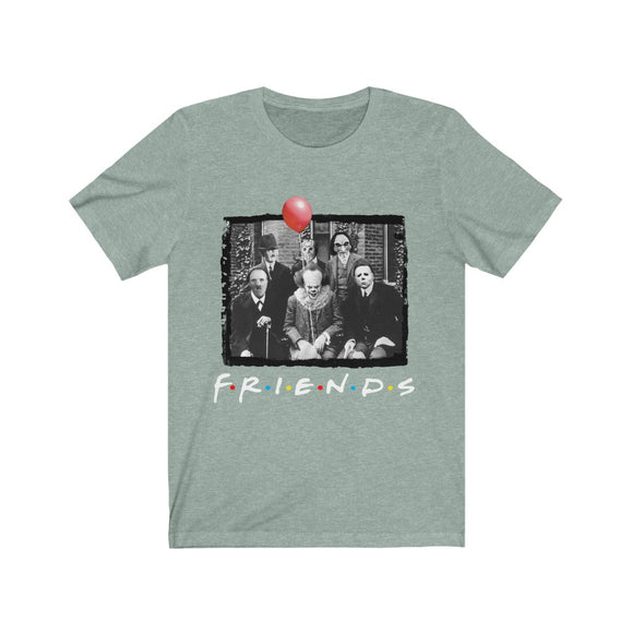 Old Men Halloween FRIENDS Inspired Fan Art Unisex Jersey Short Sleeve Tee