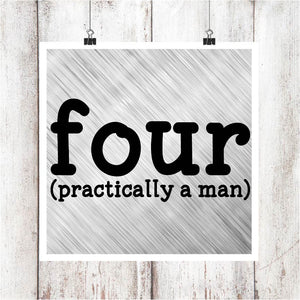 four (practically a man) Digital Graphics