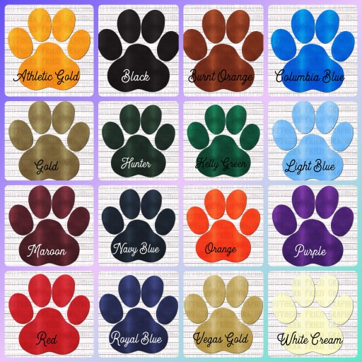 Leather Paw Mascot Individual Digital Graphic-Your Choice of Colors