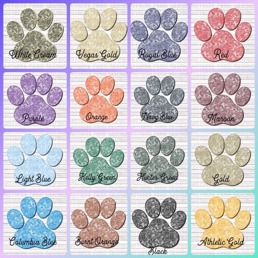Paisley Paw Mascot Individual Digital Graphic-Your Choice of Colors
